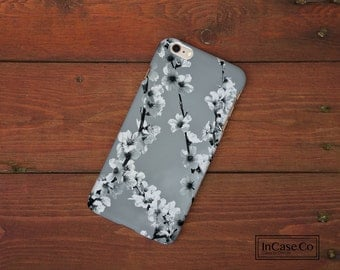 Cherry Blossom Phone Case. White. For iPhone Case, Samsung Case, LG Case, Nokia Case, Blackberry Case and More!