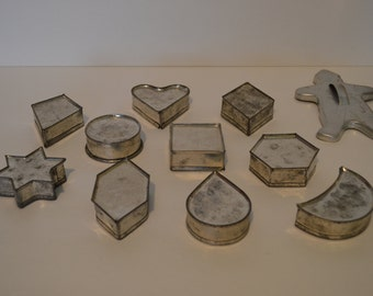 Eleven Vintage Cookie Cutters