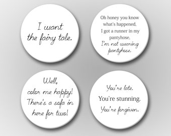 Pretty Woman Quotes Magnet Set - Pretty Woman Movie Magnet Set - Movie Magnets - Refrigerator Magnets - Pop Culture Magnets - Julia Roberts