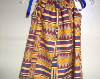 African Print Pillowcase Dress
