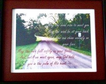 Irish Blessing Framed Print, Irish Wedding Blessing, May The Road