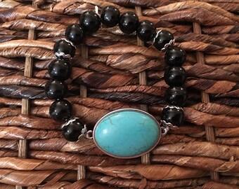 SALE! Turqouise & Glass bracelet