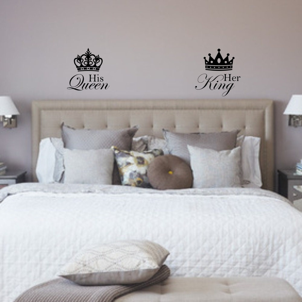 His queen and her king with crown wall decals zoom amipublicfo Gallery