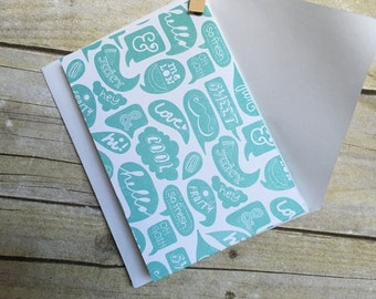 Summer Word Bubble 4x6 Bi-fold Card