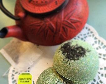 Green Tea & Lemongrass Bath Bomb