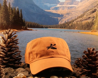 Sedona Red Rust kayaking hat. Our kayaker logo design is simple, modern and conveys ownership to the sport.