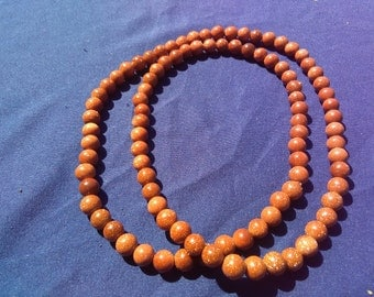 Red Goldstone Beaded Necklace