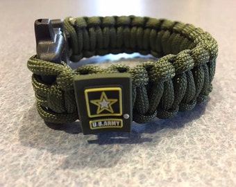 US Army Paracord Survival Bracelet