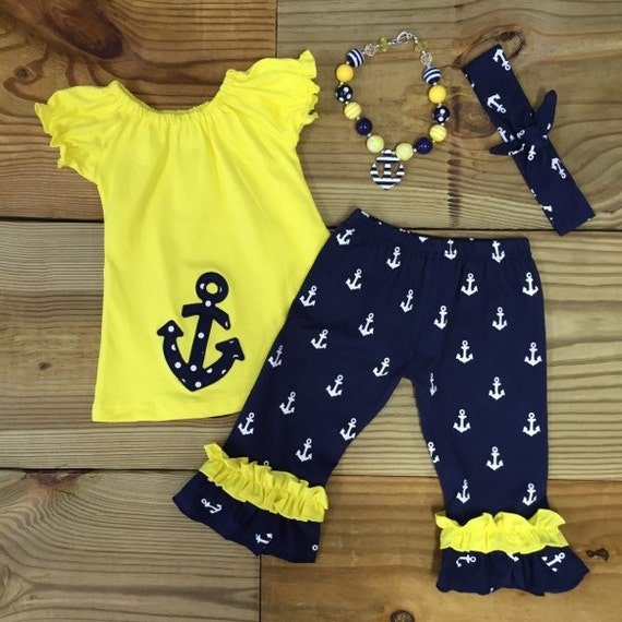 Baby Girl Clothes Toddler Girl Nautical by MoxieGirlBoutique