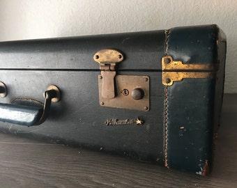 Leather Suitcase,Whitestar,  Vintage Luggage, Old Leather Suitcase, Leather Luggage, Vintage Suitcases