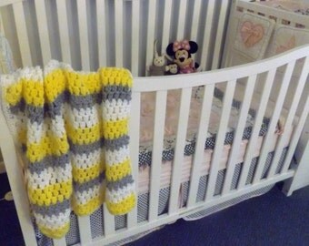 Crochet baby blanket, handmade baby afghan