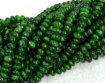 "AAA High Quality Wholesale Natural Genuine Green Chrome Diopside Rondelle Loose Beads 3x6mm 16"" 04064"