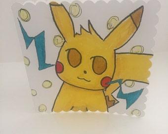 Pokemon Pikachu handmade card