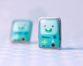 Adventure time BMO stud earrings, adventure time accessories, kawaii jewelry