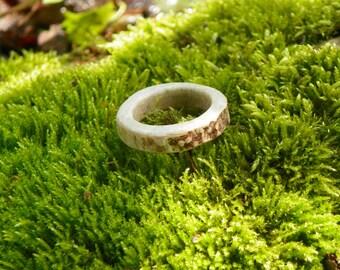 Men's White Tail Deer Antler Ring, Size 10