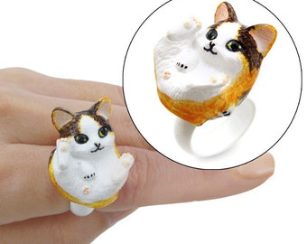 Handmade 3D Kitty Rings (B: Tri-Spotted)