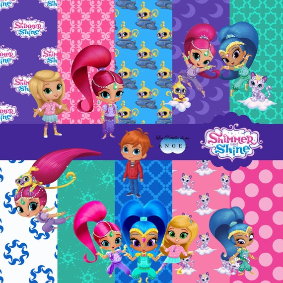 Papers digital holiday Shimmer and Shine Kit / Shimmer and Shine ...