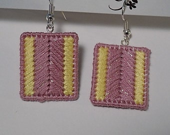 Needlepoint Earrings Hancranfted