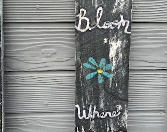 Garden flower sign