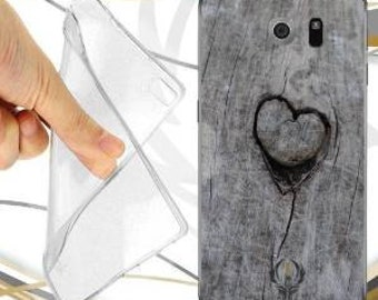 Wooden heart on case cover for samsung galaxy s6 duos