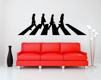 Beatles decal etsy for Beatles abbey road wall mural