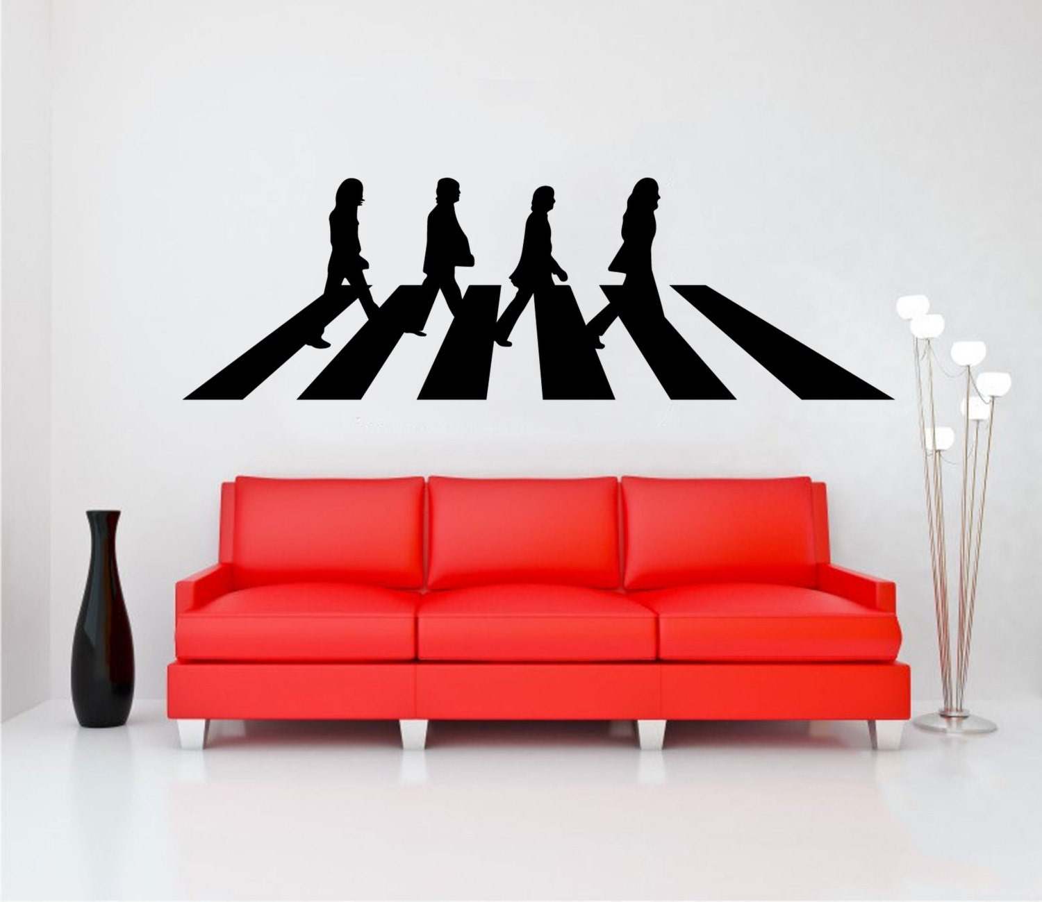 The beatles abbey road wall decal vinyl sticker wall art mural for Abbey road wall mural