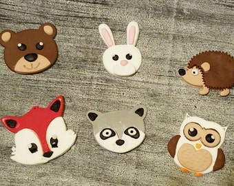 Woodland cupcake toppers. 12 ct.