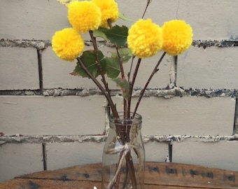 Posie of handmade billy buttons