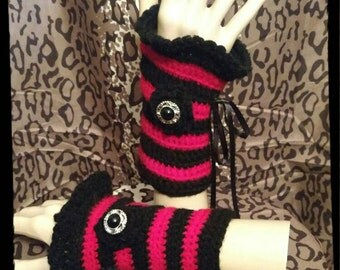 Halloween Crochet Wrist Warmers