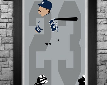 DON MATTINGLY minimalism style limited edition art print. Choose from 3 sizes!