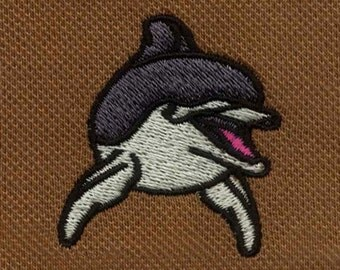 Cheeky and Fun Dolphin Digital Embroidery Design