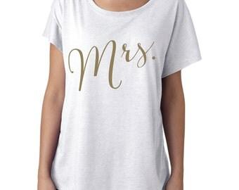 Mrs. Shirt, Bride Shirt, Wifey Shirt, Bridal Shirt, Bridal Shower Gift, Wedding, Bachelorette Gift, honeymoon shirt