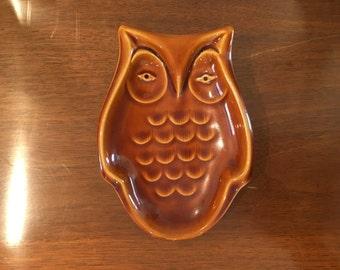 Vintage Retro Owl Spoon Rest