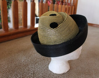 Vintage PATRICE Union Made Dress Hat       Sz 22