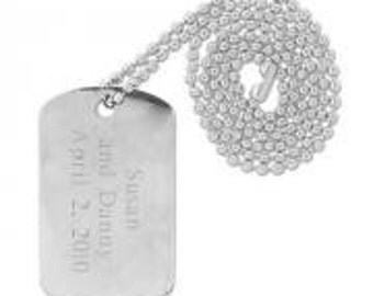 Dog Tag Stainless Steel 316