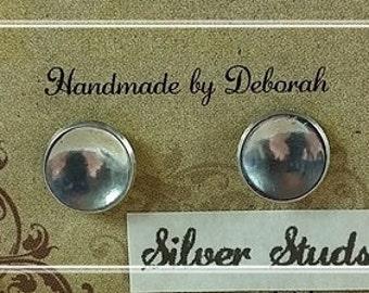 Stud Earrings, Sterling Silver Stud Earrings, Studs, Everyday Earrings.