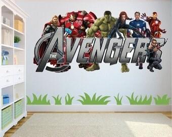 Marvel Avengers Superheroes Wall Art Sticker/Decal for Kids Room w130cm x h60cm