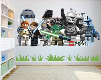 Star Wars Lego Characters Large Wall art/decal sticker w130cm x h60cm