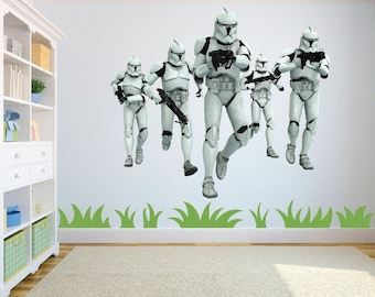 Star Wars Clone Trooper Squad (stormtroopers) Wall Art/Decal Sticker Large for childrens bedroom/playroom w67cm x h59cm