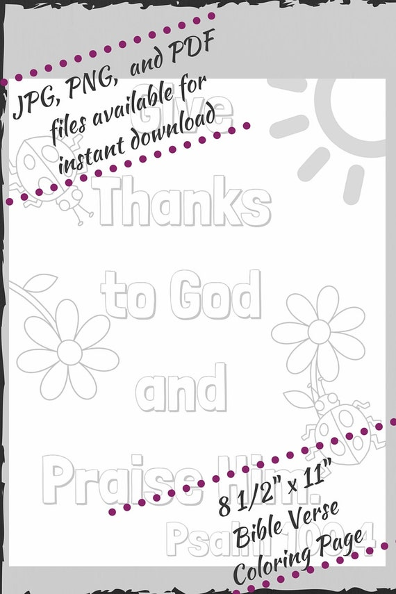 psalm 100 4 coloring pages - photo#26