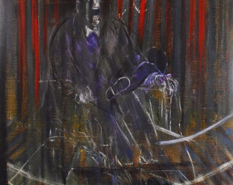 "Francis Bacon  - ""Papes et autres figures"" - Orginal Exhibition Poster"