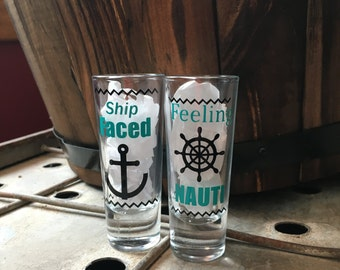 Valentines gift him, Valentines Day, Shot Glass, Party Favor, Ship Humor, Alcohol, Jello Shot Glasses, bachelor, bachelorette, Sale
