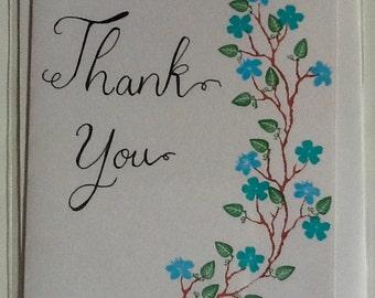 Flower Thankyou Handmade Card