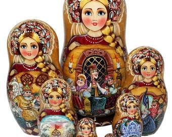 "Three maidens ""nesting doll"