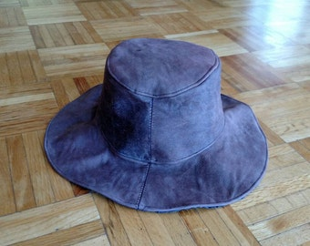 Honyock Leather Rain Hat. Brown