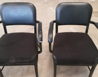 Vintage Metal office chairs, Vintage office chairs, All Metal Chairs, Metal arm chairs, Office chairs,  2- available