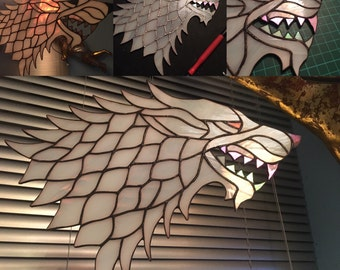 Stained Glass Dire Wolf