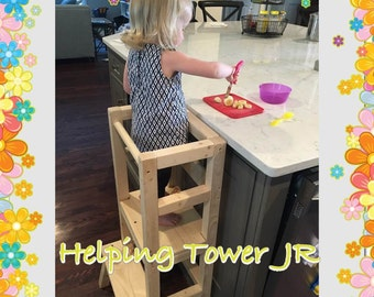 The Only Customizable  / learning Helping stool Jr (PLAIN WOOD)
