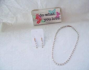 Swarovski® Crystal Single Strand-Gold Heshi Beads-Crystal Necklace-Sparkle Necklace-Birthday/Anniversary Jewelry- Wedding Jewelry-FREE GIFT