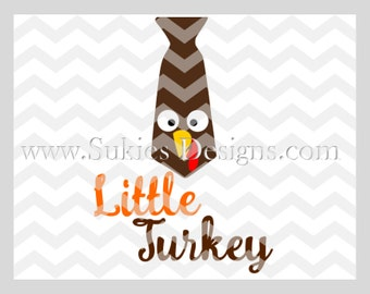 Little Turkey SVG, DXF, PNG Files for Cricut and Silhouette cutting machines Thanksgiving svg, Turkey svg, Fall svg, kids svg, Boy svg